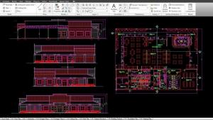 S2-13 CAD Screenshot of Restaurant Project