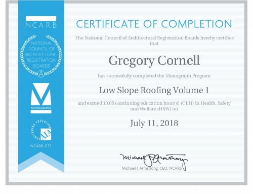 Continuing Education 2018 – Low Slope Roofing